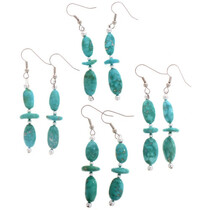 Natural Turquoise Native American Earrings 28230