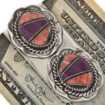 Native American Shell Money Clip 12953