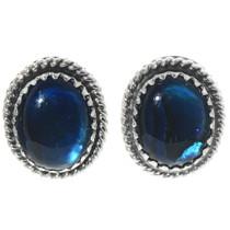 Blue Paua Shell Navajo Stud Earrings 28439