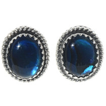 Blue Paua Shell Navajo Stud Earrings 28439