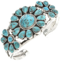 Genuine Turquoise Silver Cuff Bracelet 29753