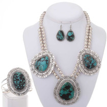 Necklace Bracelet Earrings Set 25370