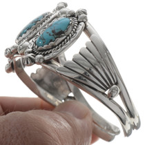 Turquoise Navajo Silver Ladies Cuff 27806