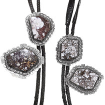 Large Native American Sterling Silver Bolo Ties 24088