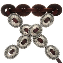 Hand Hammered Silver Concho Belt 23333