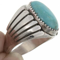 Sterling Turquoise Mens Ring 27095