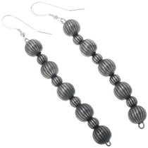 Navajo Sterling Fluted Bead Dangles 24787