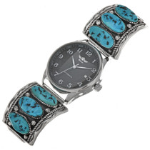Vintage Sleeping Beauty Turquoise Mens Watch 0330