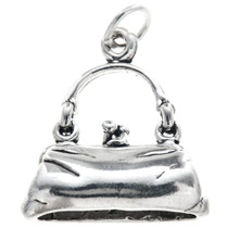 Sterling Silver Purse Charm 35430