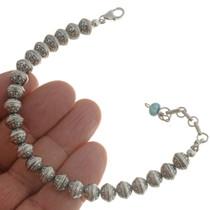 Navajo Silver Beaded Bracelet 24993