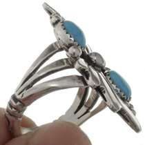 Two Stone Turquoise Southwest Ring 26211