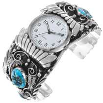 Native American Natural Turquoise Mens Watch 23019