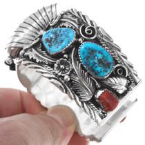 Sterling Silver Navajo Mens Watch 23019
