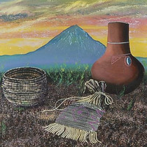 Original Indian Art Desert Landscape Painting by artist Zhoni