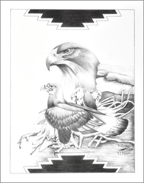 Native American Gathering of Eagles Art 17216