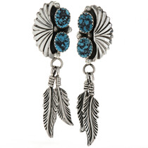 Navajo Turquoise Drop Earrings 26933