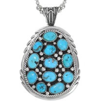 Sleeping Beauty Turquoise Native Pendant 25329