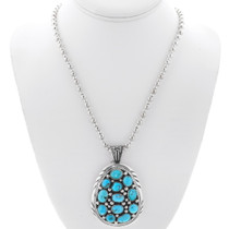Turquoise Cluster Indian Pendant 25329