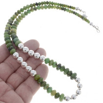 Ruby Zoisite Silver Bead Necklace 16692