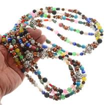 Navajo Gemstone Shell Treasure Necklace 17092