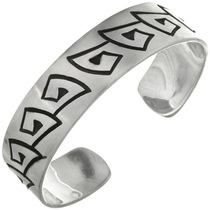 Overlaid Navajo Silver Cuff Bracelet 10771