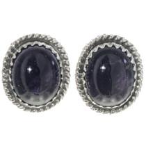 Navajo Amethyst Stud Earrings 28446