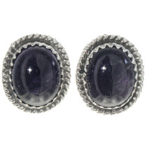 Navajo Amethyst Stud Earrings 28446