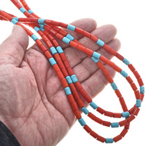 Navajo Three Strand Bead Necklace 25952