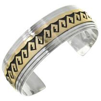 Silver Overlaid Gold Navajo Cuff 10778