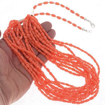 Coral Native American Necklace 23872