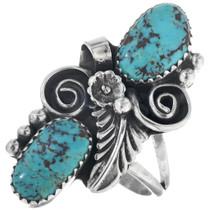 Ladies Turquoise Pointer Ring 24362