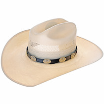 Hammered Silver Concho Hatband 24593