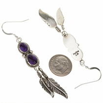 Silver Gemstone Dangle Earrings 29461