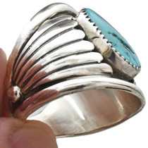 Hammered Silver Navajo Ring 23189