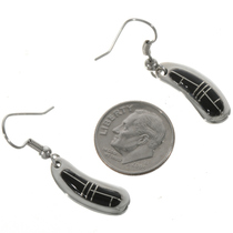 Zuni Inlaid Southwest Silver Earrings 18140