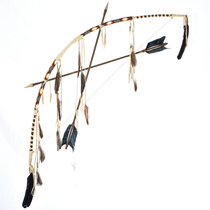 Beaded Buckskin Indian Bow Arrows 29204