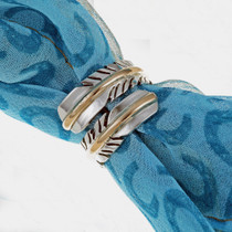 Navajo Feather Wrap Ring 24558