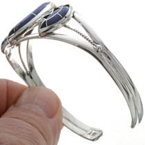 Navajo Inlaid Lapis Cuff Bracelet 28415