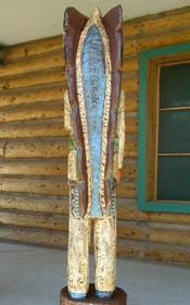 Six Foot Tall Indian Wood Sculpture 33986