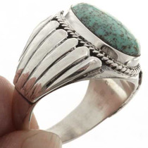 Turquoise Mens Silver Ring 17353