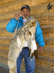 Indian Coyote Fur Quiver and Arrows Artist Curtis Bitsui