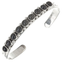 Navajo Black Onyx Row Bracelet 29604