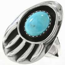 Navajo Bear Paw Turquoise Ring 27580
