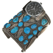 VintageTurquoise Watch Cuff 29674