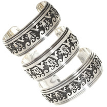 Kachina Overlaid Sterling Bracelet Cuff 26821