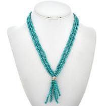 Three Strand Turquoise Bead Necklace 29569
