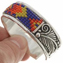 Seed Bead Sterling Southwest Bracelet 26852