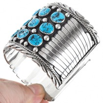 Natural Turquoise Old Pawn Style Cuff Bracelet 29206