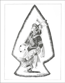 Fancy Powwow Dancer Navajo Art Print  21111