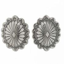 Native American Silver Concho Earrings 25704